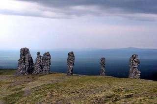Столбы выветривания на плато Мань Пупу Нер
