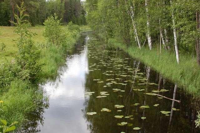 Каналы, соединяющие внутренние озера с Ладожским