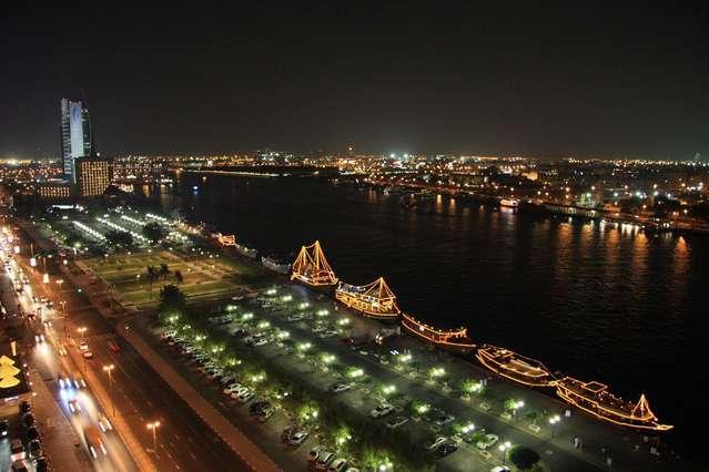 Дубаи. Ночь в порту