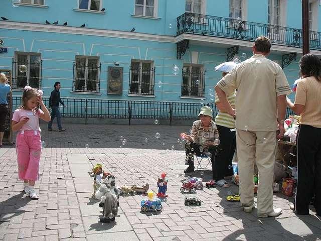 Уличные торговцы на Арбате