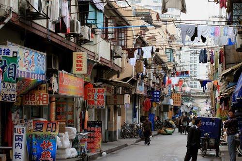 Маленькая улочка в Шанхае