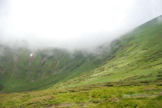 Склоны Говерлы, туман начал отступать