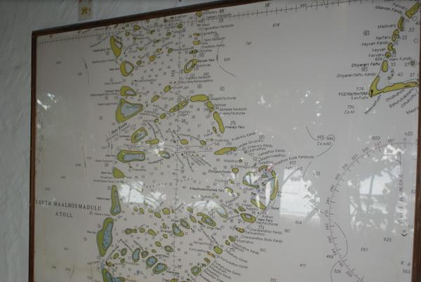 Карта островов около островного дайвинг центра