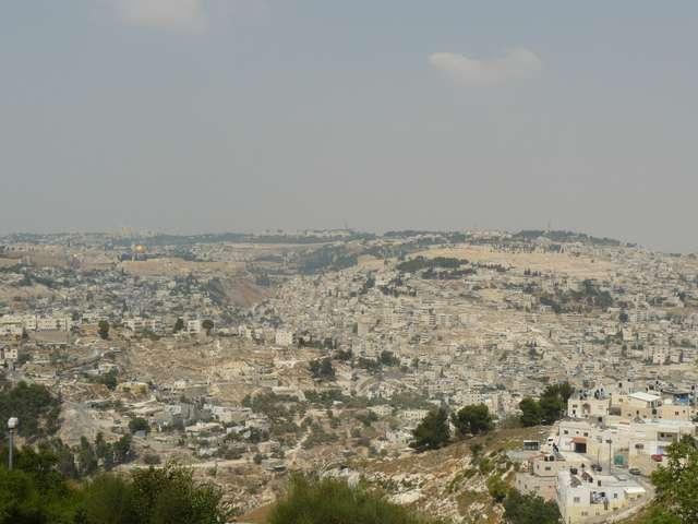 Вид с горы на Бетлехем (Иерусалим).