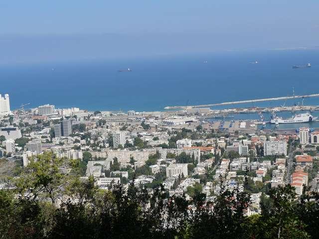 Хайфа. Вид на город и Средиземное море.