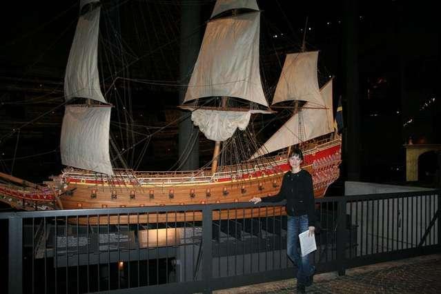 Музей Васа, маленькая модель корабля