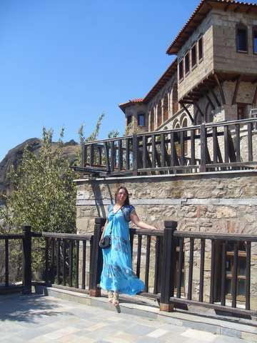 На территории монастыря Святого Варлаама