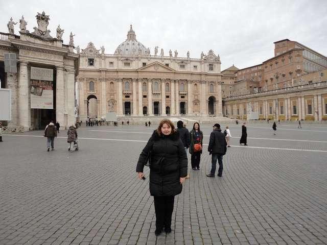 Рим. Площадь Святого Петра в Ватикане