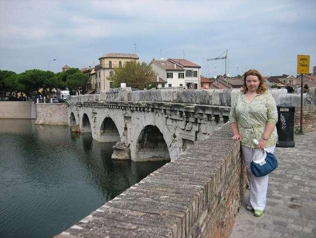 Римини. Старый город. Мост Тиберия