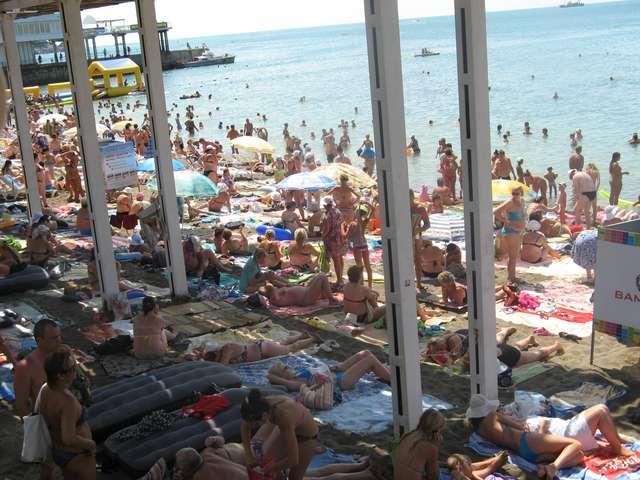 ужаснул  городской пляж Судака