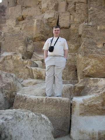На пирамиде Хеопса