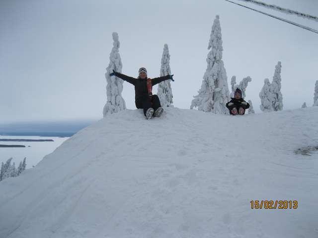 Иногда можно ехать и без лыж.
