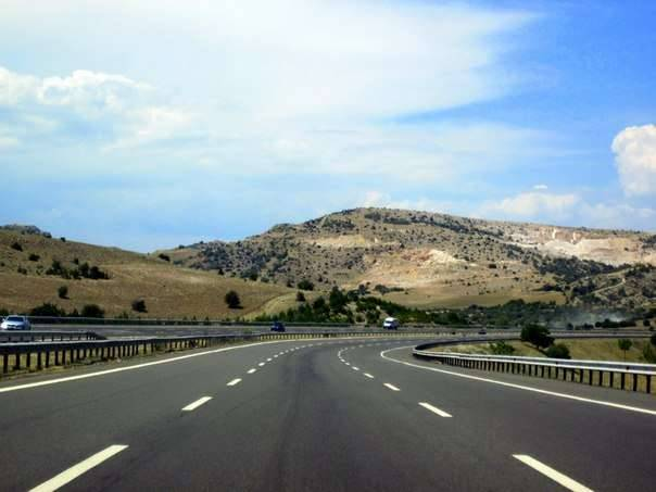 Дорога в Амасру из Анкары.