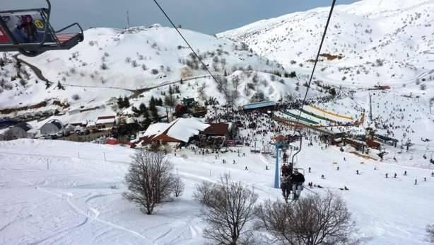 Вид сверху на горнолыжную станцию