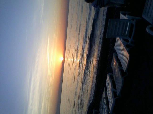Рассвет в 5:22 на море!