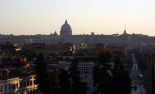 Вид на город со смотровой площадки Виллы де Боргезе