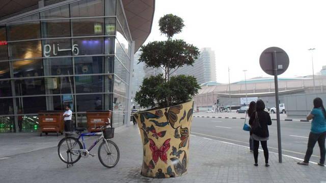 по всему городу можно встретить такого рода красиво оформленные вазоны