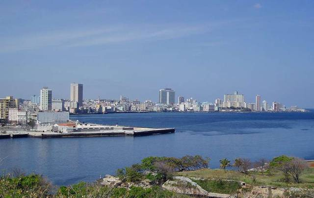 Вин на новую Гавану с крепости де-ла-Реаль-Фуерса