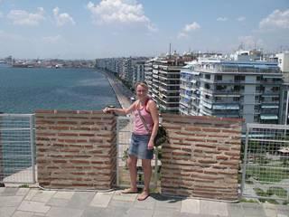 Вид на город со смотровой плащадки Белой башни