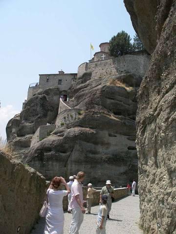 Подъем к монастырям Метеоры