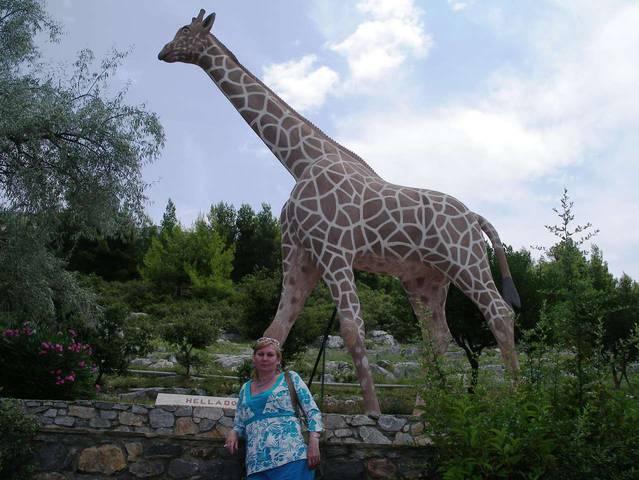 Фигура жирафа на территории комплекса