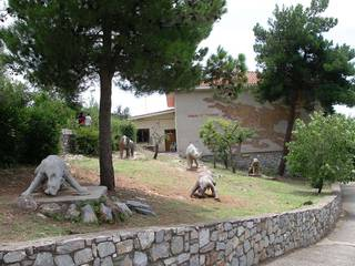 Фигуры животных, останки которых были найдены в пещере