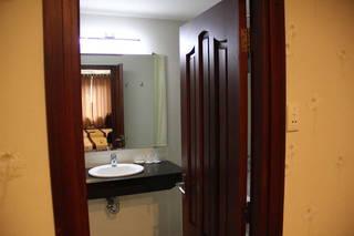 Ванная комната в номере делюкс.