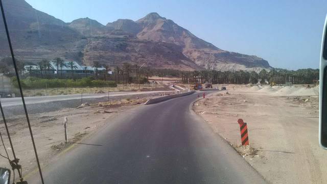 Дорога около Мертвого моря в районе киббуца Эйн-Геди